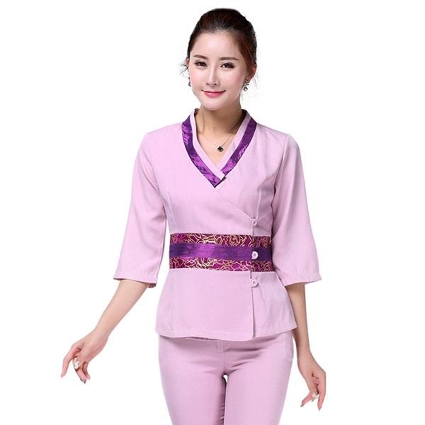 Đồng phục Sao Việt bật mí các chọn vải may cho dịch vụ Spa
