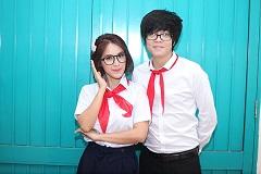 Sao Việt tinh nghịch diện đồng phục học sinh : Người trẻ măng tơ, kẻ già trước tuổi.